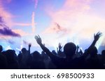 christian music concert with... | Shutterstock . vector #698500933