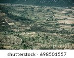 Small photo of Olive Plantation and Wine Fields seen from Pass Genna Silana, Sardegna, Italy