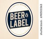 royal and elite beer bottle...   Shutterstock .eps vector #698503363