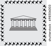 museum icon  architectural... | Shutterstock .eps vector #698506003