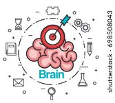brain strategy think idea power ...   Shutterstock .eps vector #698508043
