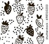 seamless black and white... | Shutterstock .eps vector #698510203