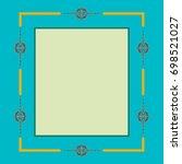 arabic floral frame.... | Shutterstock .eps vector #698521027