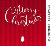 merry christmas vector  card... | Shutterstock .eps vector #698529103