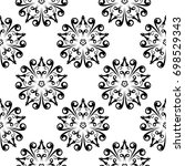 wallpaper seamless pattern.... | Shutterstock .eps vector #698529343
