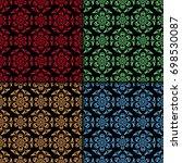 floral seamless patterns.... | Shutterstock .eps vector #698530087