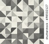 halftone abstract triangles... | Shutterstock .eps vector #698532127