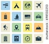 exploration icons set.... | Shutterstock .eps vector #698532253