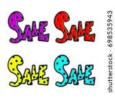 big sale. special offer banner... | Shutterstock .eps vector #698535943