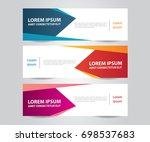 set of modern colorful banner... | Shutterstock .eps vector #698537683
