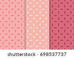 geometric seamless patterns.... | Shutterstock .eps vector #698537737