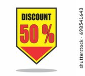 special offer sale yellow tag... | Shutterstock .eps vector #698541643