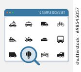 set of 12 editable... | Shutterstock .eps vector #698545057
