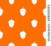 acorn pattern repeat seamless... | Shutterstock .eps vector #698545093