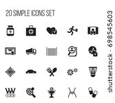 set of 20 editable mixed icons. ...