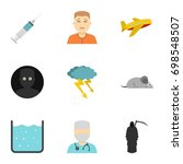 anxiety and stress icon set....   Shutterstock .eps vector #698548507