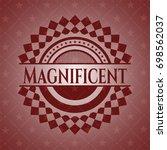 magnificent red emblem. vintage. | Shutterstock .eps vector #698562037