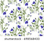 floral seamless pattern of... | Shutterstock .eps vector #698568433