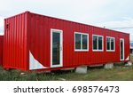 modify old steel container to... | Shutterstock . vector #698576473