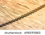 blurred background with metal... | Shutterstock . vector #698595883