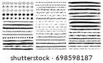 set of hand drawn line borders  ... | Shutterstock .eps vector #698598187