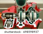 engine pump water exploded view ... | Shutterstock . vector #698598937