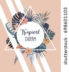 tropical vintage style... | Shutterstock .eps vector #698601103