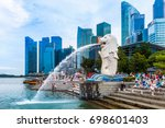 singapore   aug 8  2017  ... | Shutterstock . vector #698601403