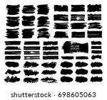 set of abstract vector brush... | Shutterstock .eps vector #698605063