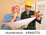 male contractor in hard hat... | Shutterstock . vector #69860731