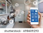 smart home technology interface ... | Shutterstock . vector #698609293