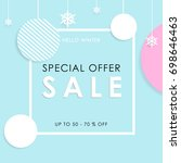 special offer. sale winter... | Shutterstock .eps vector #698646463