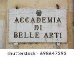 accademia di belle arti  lecce  ... | Shutterstock . vector #698647393