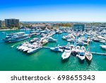 cinematic aerial view over the... | Shutterstock . vector #698655343