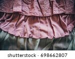 different fabric designs...   Shutterstock . vector #698662807