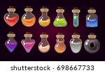 game icon of magic elixir.... | Shutterstock .eps vector #698667733
