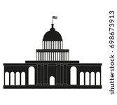 white house  congress vector.... | Shutterstock .eps vector #698673913