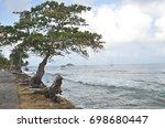 seashore along capurgana wth... | Shutterstock . vector #698680447