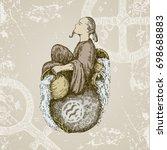 vintage sign of zodiac.... | Shutterstock .eps vector #698688883