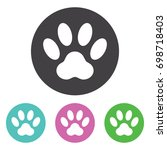 paw print icon  isolated on... | Shutterstock .eps vector #698718403