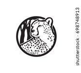 Vector Illustration Of Cheetah...