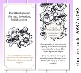 vintage delicate invitation... | Shutterstock .eps vector #698755063
