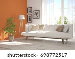 idea of white room with sofa... | Shutterstock . vector #698772517