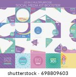 multipurpose social media kit... | Shutterstock .eps vector #698809603