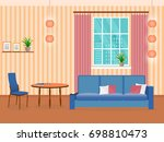 interior of living room design... | Shutterstock . vector #698810473