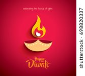 happy diwali. paper graphic of... | Shutterstock .eps vector #698820337