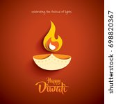 happy diwali. paper graphic of... | Shutterstock .eps vector #698820367