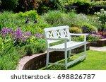 garden bench in the park   Shutterstock . vector #698826787