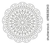 mandala. wonderful round... | Shutterstock .eps vector #698838343