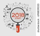 2018 text design on creative...   Shutterstock .eps vector #698839033